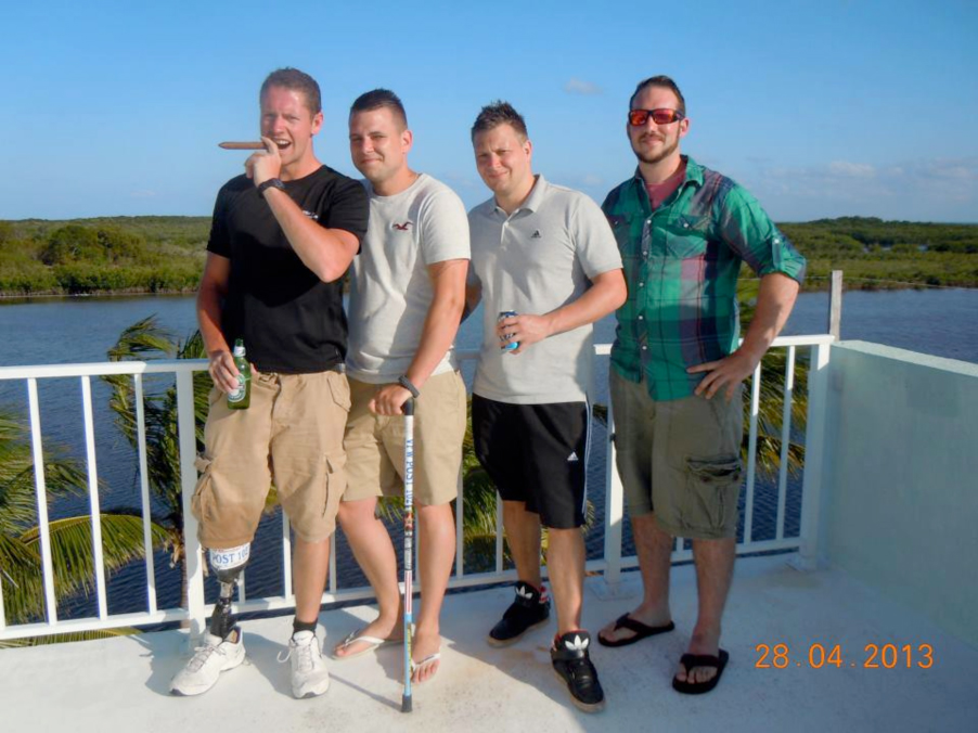 Left to right, Pete, Dan, Kevin and Dan